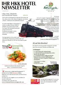 Newsletter Hotel Harz