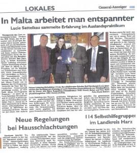 Pressekonferenz im HKK Hotel Wernigerode - Hoteldirektor -Azubi