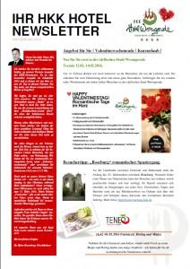 Newsletter Februar 16
