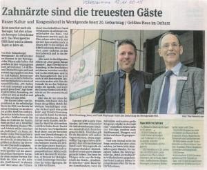 Hoteldirektor Björn Rosenberg mit Frank Weyhausen geschäftsführer desd Hauses