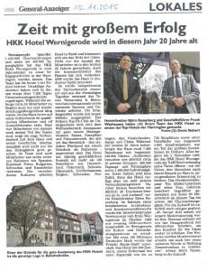 Hoteldirektor - Björn Rosenberg - Geschäftsführer Frank Weyhausen - HKK Hotel Wernigerode